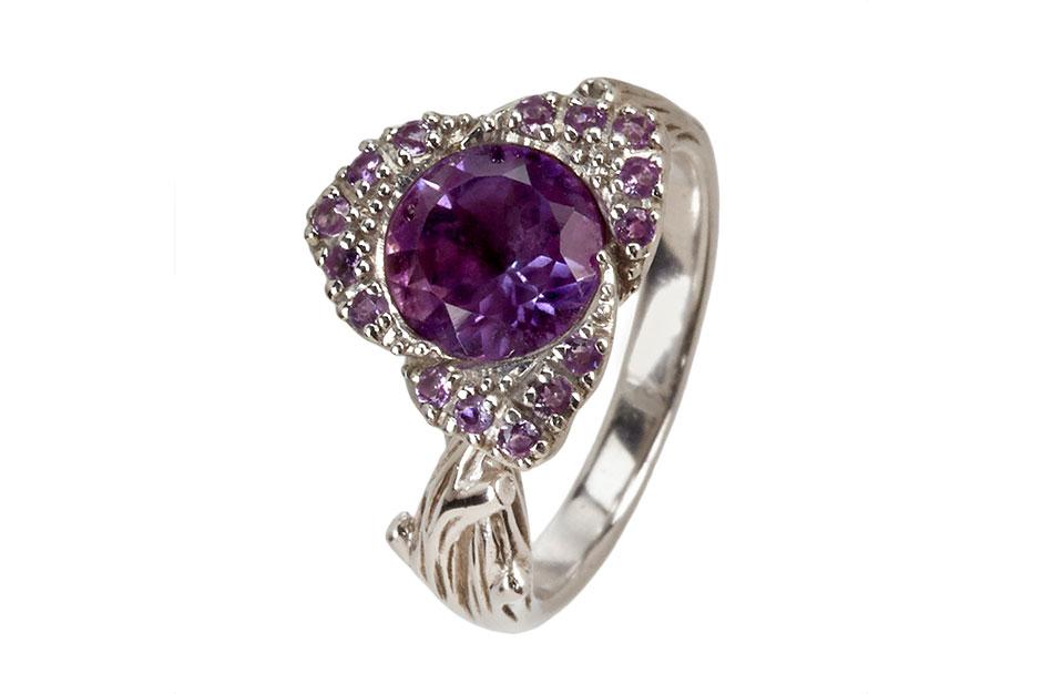 Fiorelli Ring in Sterlingsilber mit Amethyst ab EUR 119,–
