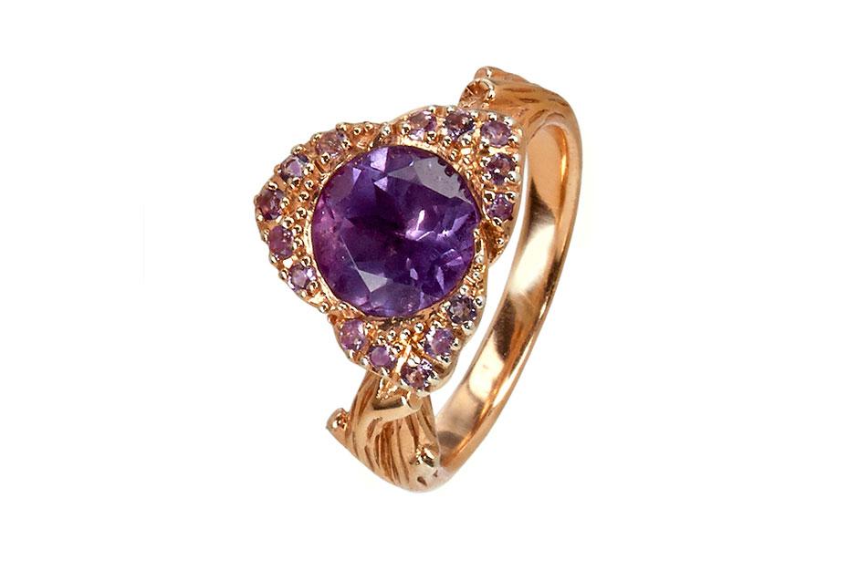 Fiorelli Ring in Sterlingsilber mit Amethyst und Rosegold platiniert ab 129,–